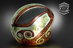 amazing helmet art...Jugendstil 1B via http://www.unexpected-custom.com/