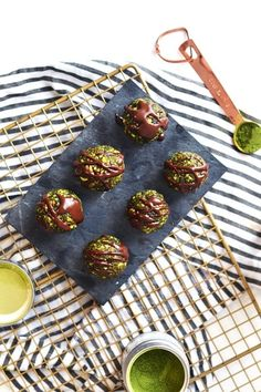 This Matcha Bliss Bites recipe will give you the energy boost you need.