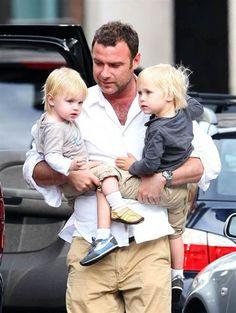Liev Schreiber & his kids