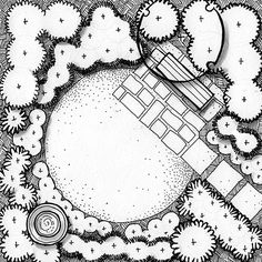 I'm a pen and ink artist to heart so love adding textures to the ground  plane in my landscape plans. Yes, they take a little time, but add such  character and readability (if done correctly). The key to adding ground  textures is achieving a good balance of white to dark spaces or good  CONTRAS