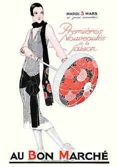 Paris Fashions. 1925. Au Bon Marche  http://www.vintagevenus.com.au/vintage/reprints/info/FAS490.htm