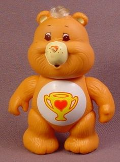Care Bears Champ Bear Poseable PVC Figure, 3 1/2 Inches Tall, 1983 Kenner ACG