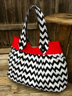 Chic Tote  Fabric Handbag/Weekender/Large Hobo by ChicBasics, $50.00