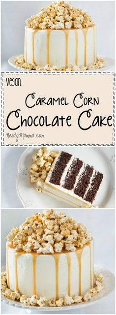 Oh, this recipe for vegan caramel corn chocolate cake...OMG. Just so amazingly easy...and it looks heavenly. I would love to make it this weekend!