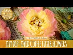 These dip-dyed coffee filter flowers are the perfect Easter craft to do with friends and family. Here's how to make these festive Easter flowers. Coffee Filter Crafts, Coffee Filter Flowers, Paper Flowers Diy, Handmade Flowers, Organza Flowers, Flower Crafts, Easter Crafts, Crafts For Kids, Diy Crafts