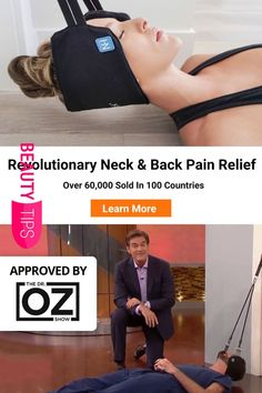 """Oz calls it """"one of the best health finds of If You Have 10 Minu… Dr. Oz calls it """"one of the best health finds of If You Have 10 Minutes, You Have Time To Relieve Your Neck Pain. Learn more today. Health Tips, Health And Wellness, Health And Beauty, Health Fitness, Neck Exercises, Neck Pain Relief, Salud Natural, Neck And Back Pain, Massage Therapy"""