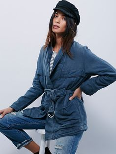Last chance, get cozy // Free People Belted Wrap Jacket at Free People Clothing Boutique
