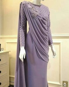 Hijab Gown, Hijab Evening Dress, Hijab Dress Party, Evening Dresses, Saree With Hijab, Muslimah Wedding Dress, Muslim Wedding Dresses, Muslim Dress, Dress Brokat