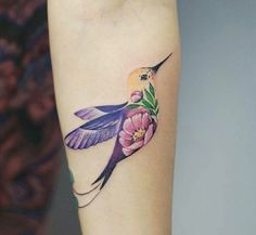 hummingbird tattoo by @botykanna