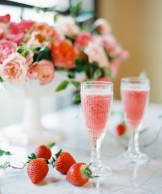 Campagne looks even sweet when combined with strawberries for this delicious signature cocktail.