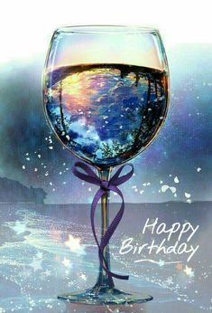 Happy Birthday . purple wine