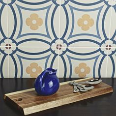 Merola Tile Caprice Saint Tropez Encaustic in. Porcelain Floor and Wall Tile sq. / - The Home Depot Saint Tropez, Bathroom Floor Tiles, Wall Tiles, Patchwork Tiles, Feature Tiles, Handmade Tiles, Kitchen Flooring, Kitchen Tiles, Porcelain Tile