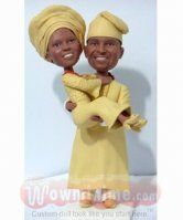 Nigerian theme wedding cake topper Themed Wedding Cakes, Themed Cakes, Wedding Themes, Personalized Wedding Cake Toppers, Custom Cake Toppers, Yosemite Wedding, Wedding Planning, Bride, Afro