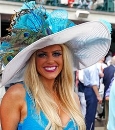 A horse owner named Cecil Peacock had a horse named Brother Derek who finished fourth in the 2006 Kentucky Derby. In honor of him, we're naming this hat Cecil.  Kentucky Derby, 2012