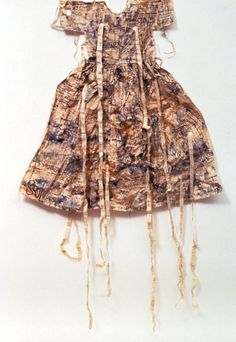 """Lesley Dill ~ """"Paper Speaking Dress"""" Emily Dickinson poem """"The Soul Has Bandaged Moments""""  