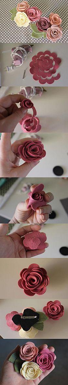 róże filcowe / papierowe