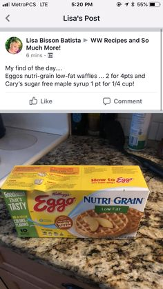 Weight Watchers Food Points, Weight Watchers Meal Plans, Weight Watchers Breakfast, Weight Watchers Free, Weight Watchers Desserts, Weight Watchers Program, Ww Recipes, Low Calorie Recipes, Recipies