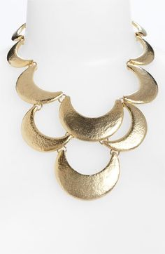 Nordstrom 'Tribal Metal' Scallop Statement Necklace | Nordstrom