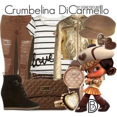 Crumbelina DiCarmello by leslieakay on Polyvore featuring Moschino Cheap & Chic, Polo Ralph Lauren, WearAll, Mint Velvet, Friis & Company, Stührling, Chan Luu, Stephen Dweck, Nine West and disney