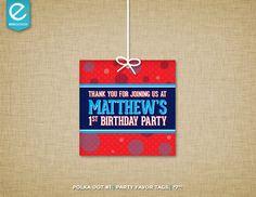 Printable Polka Dot Birthday Favor Tags