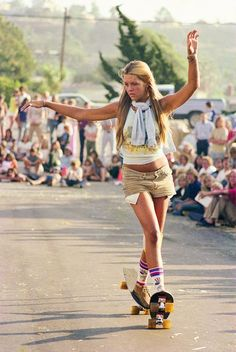 """Stylish skater girl - Skateboarding in the 70s, Hugh Holland """"Locals Only"""""""