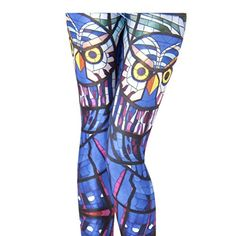 Takra Gold Womens High Stretched Stained Glass Owl Plus Size Leggings XL -- Be sure to check out this awesome product.  This link participates in Amazon Service LLC Associates Program, a program designed to let participant earn advertising fees by advertising and linking to Amazon.com.