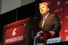 Mike Leach at his introductory press conference as Cougar Head Football Coach, Dec. 6, 2011.