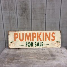 Pumpkins For Sale Sign Fall Sign by sophisticatedhilbily on Etsy