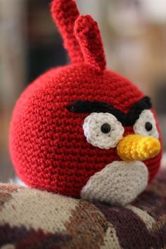 Crocheted Angry birds!  All of 'em!