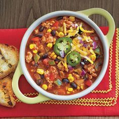 Easy Slow Cooker Recipes: Slow Cooker Turkey Chili with Quinoa