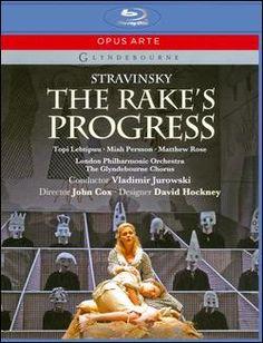 Igor Strawinsky - The Rake's Progress Blu-ray Alemania William Hogarth, Chester, Opera News, David Hockney, Conductors, Orchestra, Album Covers, It Cast, Staging