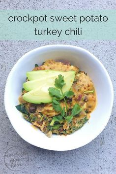 its a simple, creamy, sweet potato base with ground turkey, onions and black beans {and kale if youre a little green veggie obsessed like me}. its a hearty soup, but i like to beef it up by adding a couple cups of cooked quinoa too.  Photo credit staci