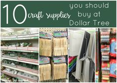 Save yourself lots of money with this great list of 10 craft supplies you should buy at Dollar Tree!