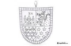 Resultado de imagen de escudos medievales para colorear