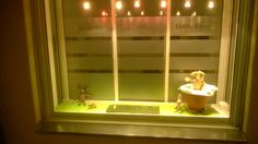 beyforart: Unser neues Osterfenster mit echten Steiff Hasen. ...
