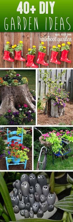 Welcome to the diy garden page dear DIY lovers. If your interest in diy garden projects, you'are in the right place. Creating an inviting outdoor space is a good idea and there are many DIY projects everyone can do easily. Garden Crafts, Garden Projects, Garden Art, Garden Design, Art Projects, Herb Garden, Vegetable Garden, Small Backyard Gardens, Backyard Landscaping