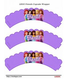 LEGO Friends Cupcake Wrapper. Free Printable.