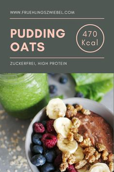 Sugar Myths - Tricks of healthy life Protein Pudding, Pudding Oats, Healthy Carbs, Healthy Life, Protein Foods, Overnight Oats, Sweet Tooth, Oatmeal, Clean Eating