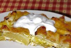 Sajtos rakott tök Cooking Recipes, Healthy Recipes, Waffles, Cheesecake, Paleo, Food And Drink, Pudding, Vegetarian, Drinks