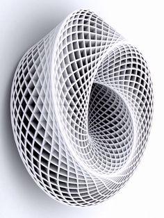 Evolution of Genius Parametric Architecture, Parametric Design, Organic Architecture, Architecture Design, Geometric Sculpture, Abstract Sculpture, Sculpture Art, 3d Printer Designs, Futuristic Art