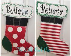 Christmas Stocking Door Hanger, Christmas Door Hanger, Christmas Stocking Sign, Christmas Door Decor, Christmas Sign, Front Door Hanger -    Edit Listing  - Etsy