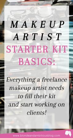 The Makeup Artist Starter Kit Guide The BEST Makeup Artist Starter Kit Guide – every product you need for your kit when starting your freelance makeup artistry business Makeup Artist Starter Kit, Makeup Artist Tips, Makeup Artist Logo, Freelance Makeup Artist, Makeup Tools, Makeup Artistry, Makeup Ideas, Makeup Artist Courses, Makeup Inspiration