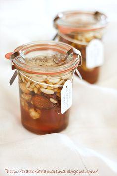 Miele e frutta secca....un'idea veloce per un regalino di Natale