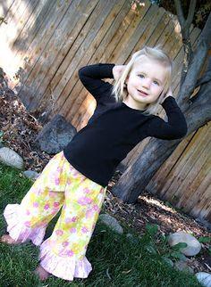 Free Pattern - Ruffled Toddler Pants