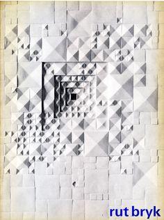 """""""Rut Bryk"""" Exhibition Catalog, Stedelijk Museum, Amsterdam. Designed by Jolijn van de Wouw and Wim Crouwel, 1970"""