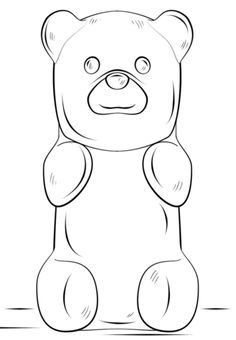 Gummy Bear coloring page from Misc. Toys and Dolls category. Select from 20946 printable crafts of cartoons, nature, animals, Bible and many more.