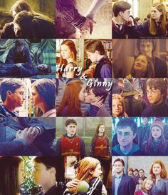 "Anything and everything about Harry James Potter and Ginevra (""Ginny"") Molly Weasley from JK Rowling's Harry Potter series. Gina Harry Potter, Harry Y Ginny, Harry Potter Ginny Weasley, Harry Potter Ships, Harry Potter Books, Harry Potter Characters, Harry Potter Memes, Harry Potter World, Hermione"