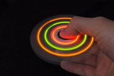 DIY LED glowing hand spinner! I made it from wood and LED diodes #DIY #Spinner