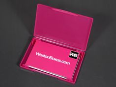 Clear plastic business card box from westonboxes with business plastic packaging boxes presentation boxes and storage boxes for artists crafters and printers find this pin and more on business card wallets reheart Images