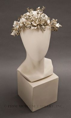 In the Swan's Shadow: Silvered Paper Headdress, ca. 1860